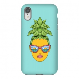 iPhone Xr  Pineapple Girl by  (pineapple,girl,woman,summer,beach,nature,ocean,sun,sea,hair,fun,funny,humor,cute,adorable,art,fruit,vacation,outdoor,sunglasses)