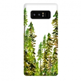 Galaxy Note 8  Dark Forest by  (nature,trees,forest,minimal,botanical,tree,green)