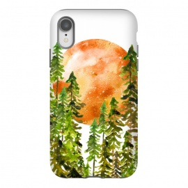 iPhone Xr  Blood Moon by  (trees,forest,nature,moon,watercolor,tree,full moon)