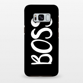 Galaxy S8 plus  Black Boss by  (typography,words,letters,unisex,black and white,graphic,modern,boss,ladyboss,girl boss,empowering,for her,for him,for boss,gift for boss)