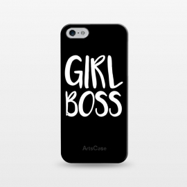 iPhone 5/5E/5s  Black Girl Boss by  (typography,letters,words,quote,black and white,elegant,modern,boss,girl boss,ladyboss,motivation,empowering,for her)