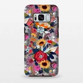 Galaxy S8 plus  Popping Floral - Pink  by