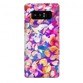 Galaxy Note 8  Floral Abundance by  (watercolor, pattern, floral, nature, bold, colorful, purple, winter, new years, botanical, flourish, summer, pink, petals, bloom, blossom)