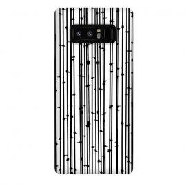 Galaxy Note 8  Distraction by  (graphic design, pattern, black and white, abstract, lines, fence, geometric, random, hand drawn, simple, minimal, monochromatic, modern, black lines, white)