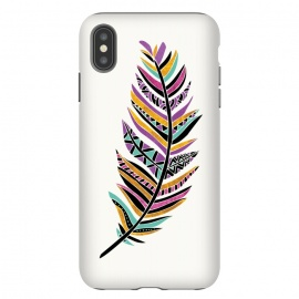 iPhone Xs Max  Dreamy Feather by  (feather,tribal feather,tribal,geometric)