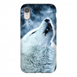 iPhone Xr  A howling wolf in the rain by