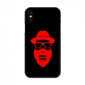 iPhone X  beard on red by