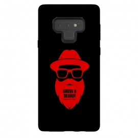 Galaxy Note 9  beard on red by