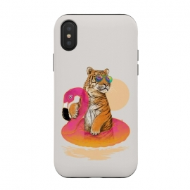 Chillin Flamingo Tiger by 38 Sunsets