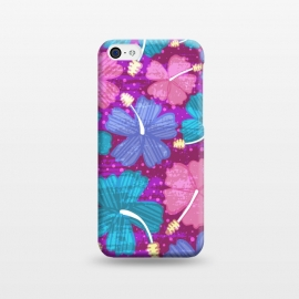 iPhone 5C  Hawaii Surf by Kimrhi Studios (floral,tropical,flowers,hawaii,botanical,organic)