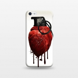 iPhone 5C  Heart Grenade by Nicklas Gustafsson (heart,grenade,love,war,peace,hate,blood,drips,symbolic)