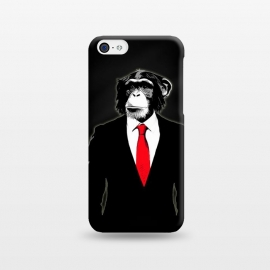 iPhone 5C  Domesticated Monkey by Nicklas Gustafsson (monkey,ape,chimp,chimpanzee,suit,tie,red,office,man,modern,worker,funny,cool,animal)