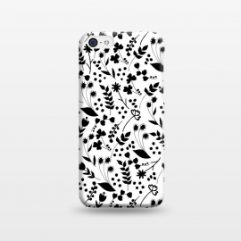 iPhone 5C  B&W by Dunia Nalu (garden,floral,pattern,nature,black&white,blackandwhite,black,white,b&w)