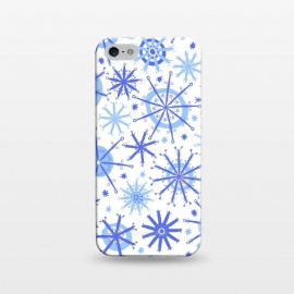 iPhone 5/5E/5s  Snowflake Twinkle Blue by Kimrhi Studios (snowflake ,blue,star)