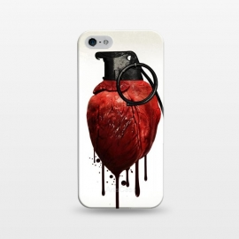 iPhone 5/5E/5s  Heart Grenade by Nicklas Gustafsson (heart,grenade,love,war,peace,hate,blood,drips,symbolic)