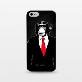 iPhone 5/5E/5s  Domesticated Monkey by Nicklas Gustafsson (monkey,ape,chimp,chimpanzee,suit,tie,red,office,man,modern,worker,funny,cool,animal)