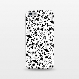 iPhone 5/5E/5s  B&W by  (garden,floral,pattern,nature,black&white,blackandwhite,black,white,b&w)
