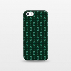 iPhone 5C  Geometric Tulips - green by Stefania Pochesci
