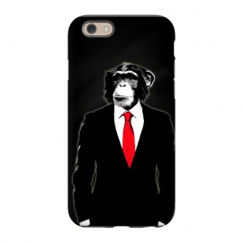iPhone 6/6s  Domesticated Monkey by Nicklas Gustafsson (monkey,ape,chimp,chimpanzee,suit,tie,red,office,man,modern,worker,funny,cool,animal)