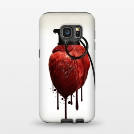 Galaxy S7  Heart Grenade by Nicklas Gustafsson (heart,grenade,love,war,peace,hate,blood,drips,symbolic)