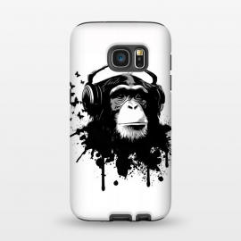 Galaxy S7  Monkey Business by Nicklas Gustafsson (monkey,chimp,ape,chimpanzee,animal,butterflies,butterfly,music,headphones,spatter,graffiti)