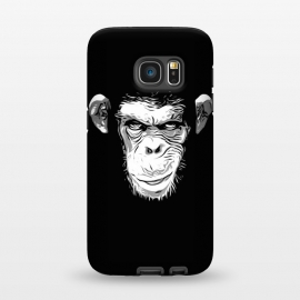 Galaxy S7  Evil Monkey by Nicklas Gustafsson (monkey,ape,chimp,chimpanzee,animal,evil,grin,illustration)