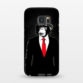 Galaxy S7  Domesticated Monkey by Nicklas Gustafsson (monkey,ape,chimp,chimpanzee,suit,tie,red,office,man,modern,worker,funny,cool,animal)