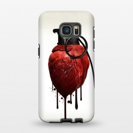 Galaxy S7 EDGE  Heart Grenade by Nicklas Gustafsson (heart,grenade,love,war,peace,hate,blood,drips,symbolic)