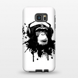 Galaxy S7 EDGE  Monkey Business by Nicklas Gustafsson (monkey,chimp,ape,chimpanzee,animal,butterflies,butterfly,music,headphones,spatter,graffiti)