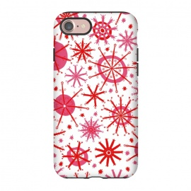 iPhone 8/7  Snowflake Twinkle Pink and Red by Kimrhi Studios