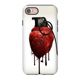 iPhone 8/7  Heart Grenade by Nicklas Gustafsson (heart,grenade,love,war,peace,hate,blood,drips,symbolic)