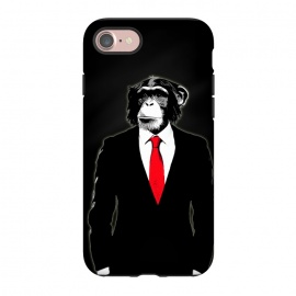 iPhone 8/7  Domesticated Monkey by Nicklas Gustafsson (monkey,ape,chimp,chimpanzee,suit,tie,red,office,man,modern,worker,funny,cool,animal)