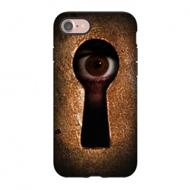 iPhone 8/7  Who is watching you by Nicklas Gustafsson (keyhole,eye,watching,big brother,surveilance,spy,paranoid,conspiracy)