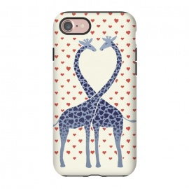 iPhone 8/7  Giraffes in Love a Valentine's Day illustration by Micklyn Le Feuvre ()