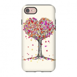 iPhone 8/7  Love in the Fall Heart Tree Illustration by Micklyn Le Feuvre ()