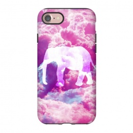 iPhone 8/7  Elephant on Pink Purple Clouds by Girly Trend