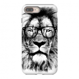 iPhone 8/7 plus  The King Lion of The Library by Mitxel Gonzalez (lion,hipster,glasses,funny,animal,roar,cool,leon)