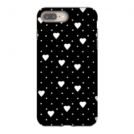 iPhone 8/7 plus  Pin Point Hearts White by Project M