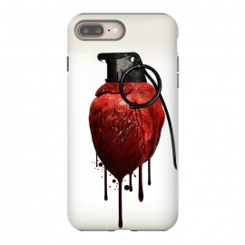 iPhone 8/7 plus  Heart Grenade by Nicklas Gustafsson (heart,grenade,love,war,peace,hate,blood,drips,symbolic)