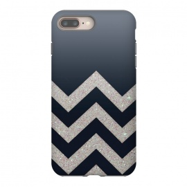 iPhone 8/7 plus  Chevron Block Silver Grey by Monika Strigel ()