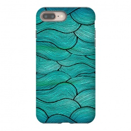 iPhone 8/7 plus  Sea Waves Pattern by Pom Graphic Design ()