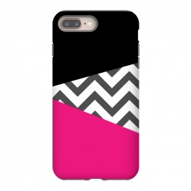 Color Blocked Chevron Black Pink  by Josie Steinfort