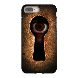 iPhone 8/7 plus  Who is watching you by Nicklas Gustafsson (keyhole,eye,watching,big brother,surveilance,spy,paranoid,conspiracy)